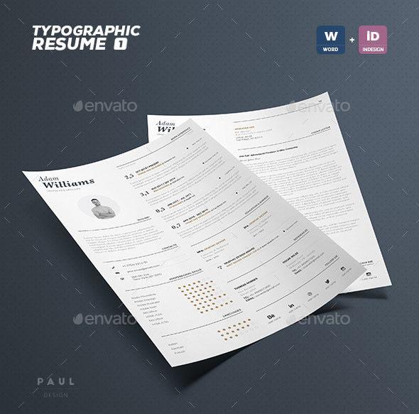 Typographic Resume Volume 1