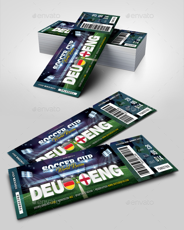 World Soccer Cup Russia 2018 Ticket