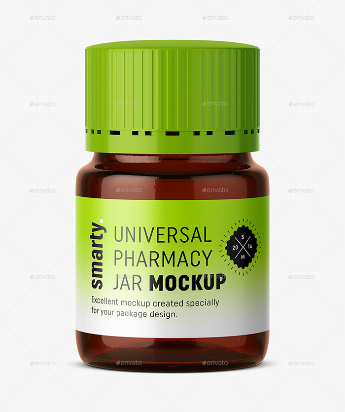 Amber Pharmacy Jar Mockup