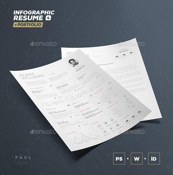 Premium Infographic Resume Vol. 4