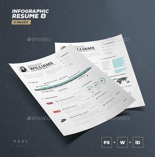 Infographic Resume / CV Volume 5
