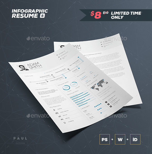 Infographic Resume / CV Volume 8