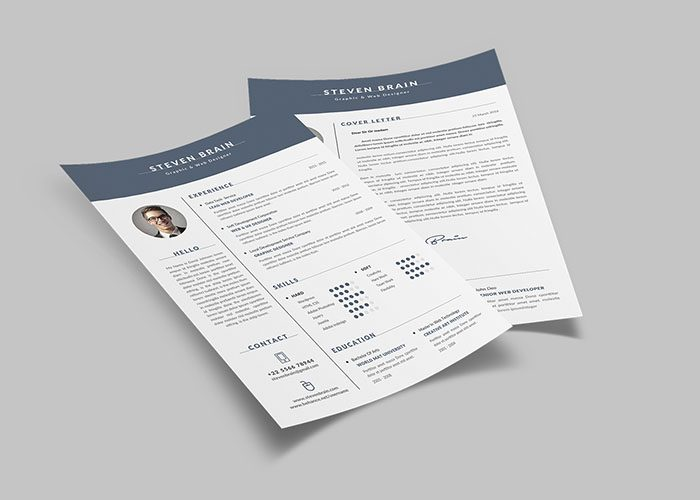 60+ Awesome Resume CV Templates 2019 (Word, Indesign, PSD)