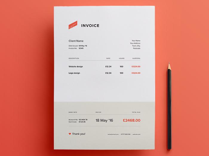 63 Invoice Design Templates 2018 Psd Word Excel Pdf Indesign