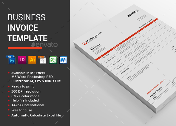 business invoice mockup