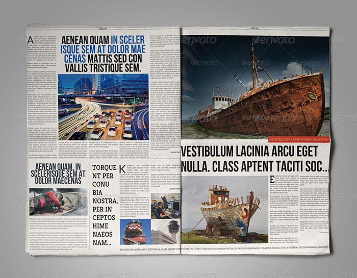 PSD Format Newspaper Template