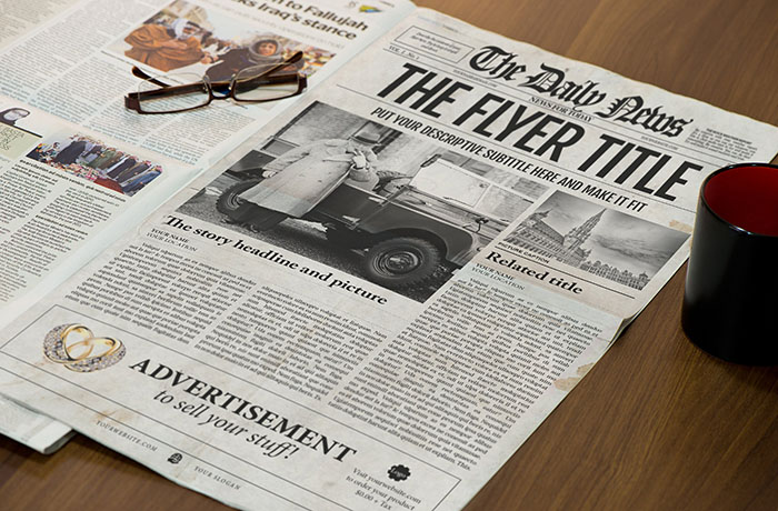 Front Page Newspaper Template