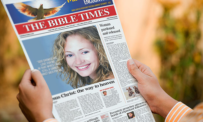 Realistic 12 Page Newspaper Template