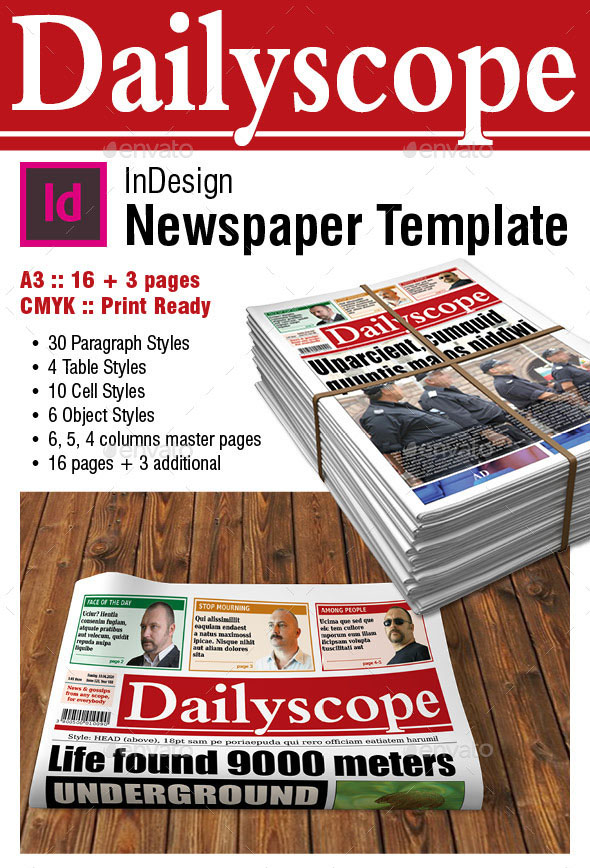 Pages Newspaper Template Vaydileforic