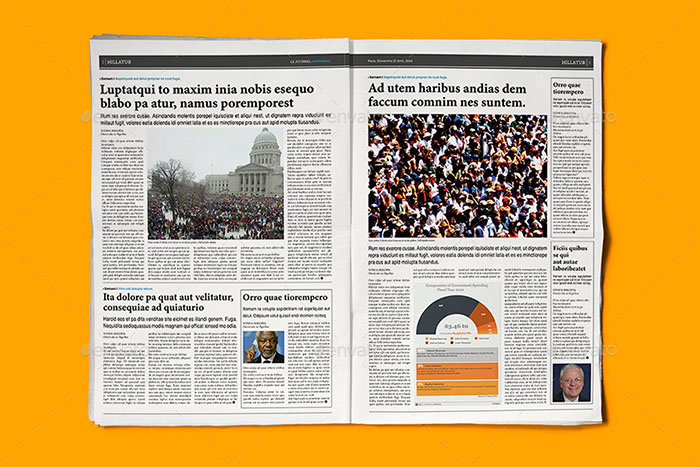50 Hq Newspaper Mockups And Templates 2018 Psd Indesign