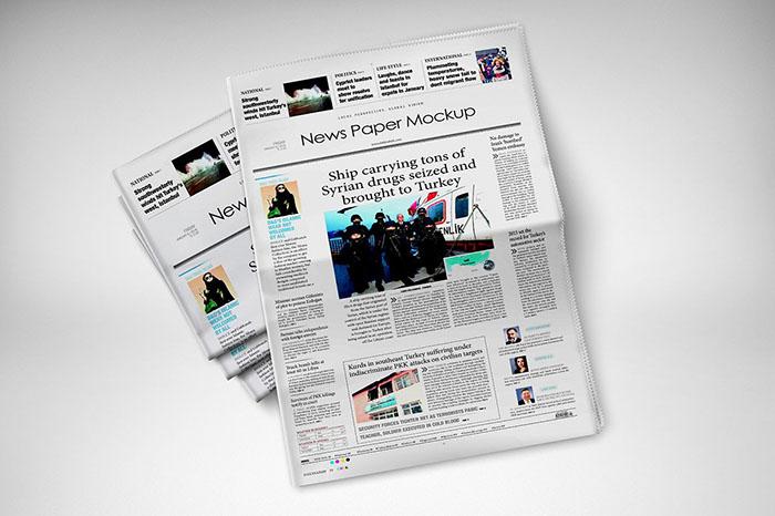 300 dpi Newspapers Mockup