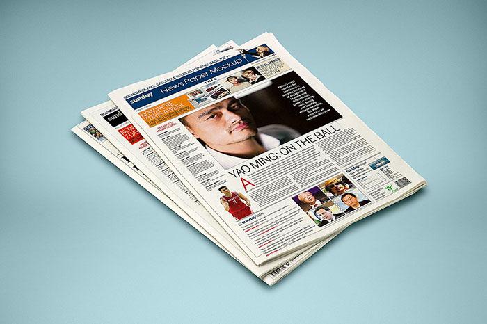 High Quality Newspaper Mockup