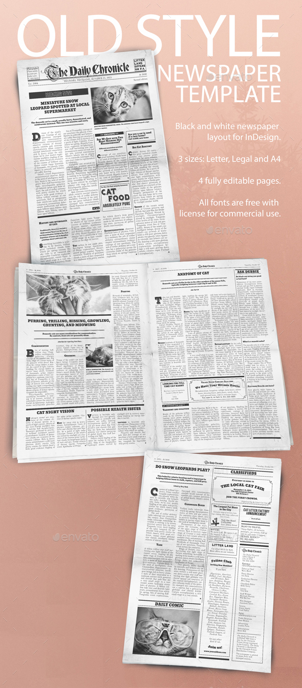 50+ HQ Newspaper Mockups and Templates 2018 (PSD, InDesign)