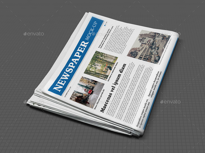 Realistic Newspaper Mockup