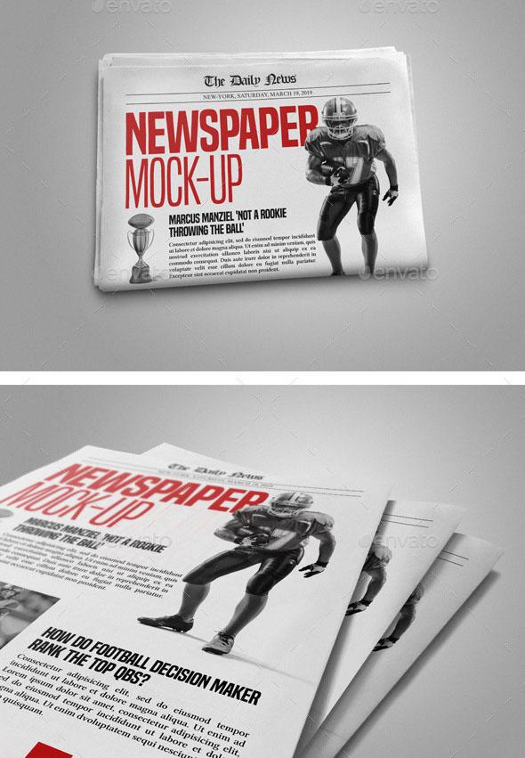 Well Organized Newspaper Mockup