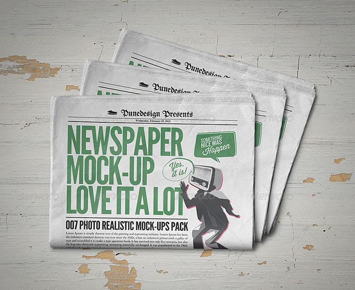 HD Newspaper Mockup