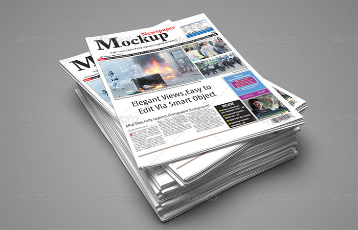 Automatic Perspective Newspaper Mockup
