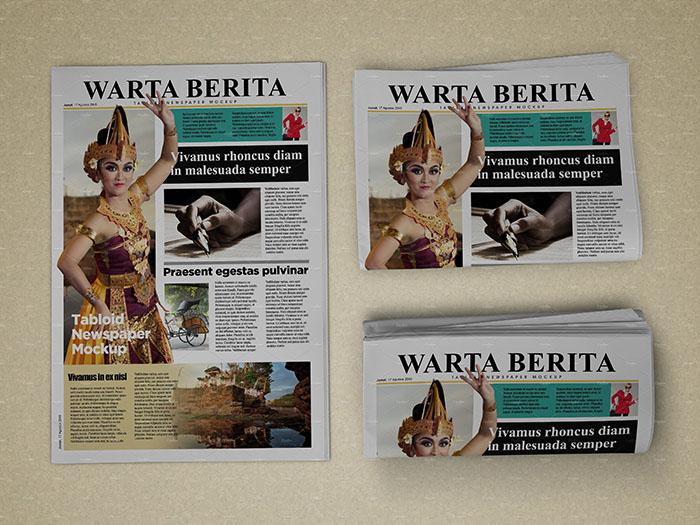 Attractive Newspaper Mockup
