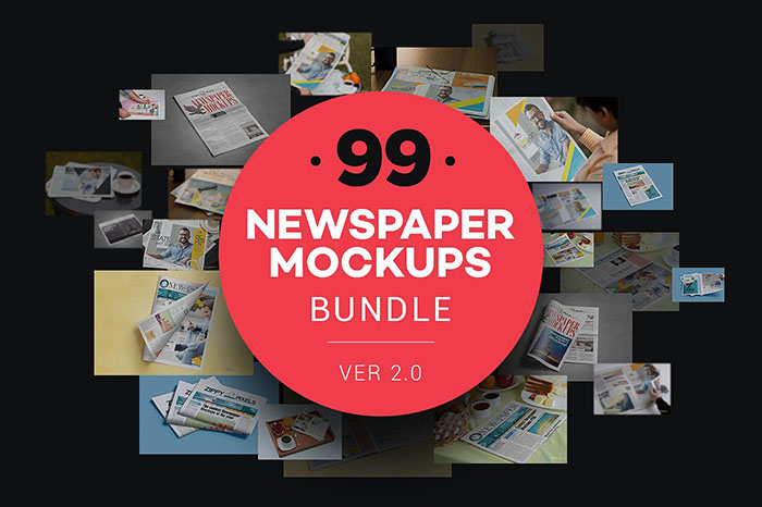 Newspaper Mockups Bundle