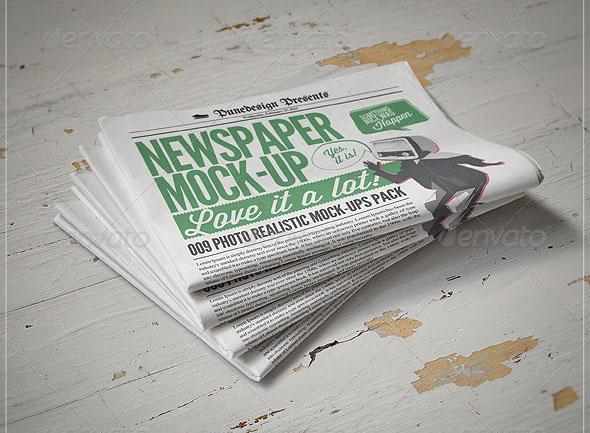 newspaper mockup bundle
