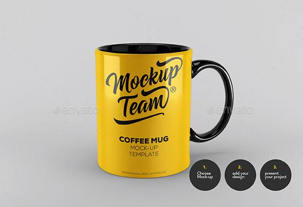 premium coffee mug mockup template