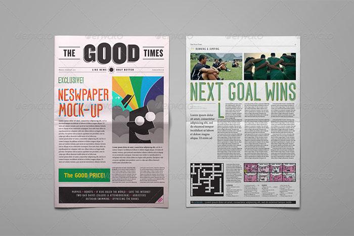 A3 Optimization Newspaper Mockup