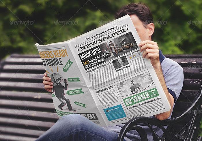 Newspaper Graphic Design Mockups