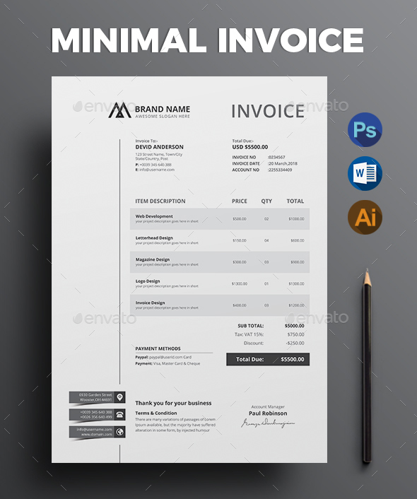 commercial invoice template - Invoice Design