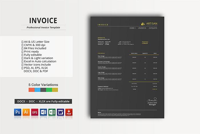 Graphic Design Invoice Template