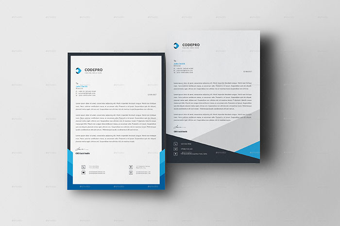 Best Letterhead Design Templates  Psd Word Pdf Indesign