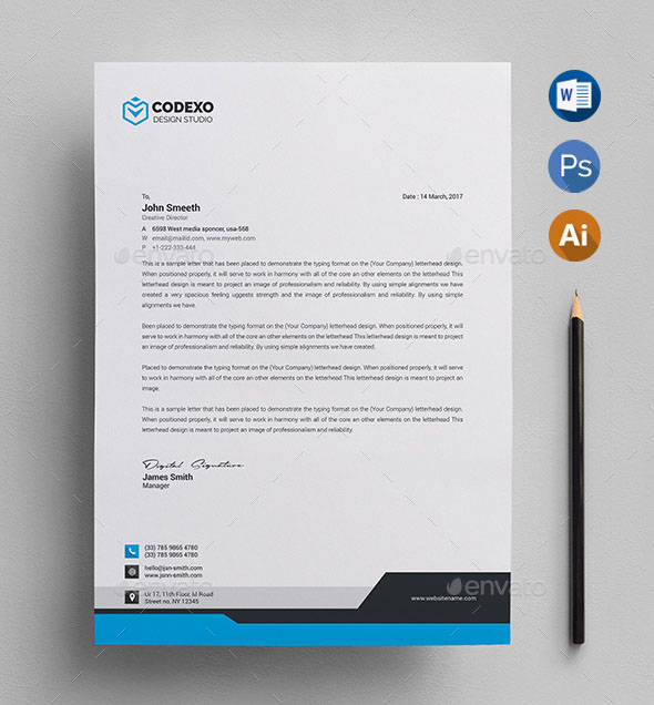 Free Photoshop Letterhead Templates: 50+ Best Letterhead Design Templates 2020 (PSD, Word, PDF