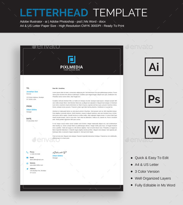 50 best letterhead design templates 2018 psd word pdf indesign ready to print letterhead mockup spiritdancerdesigns Image collections