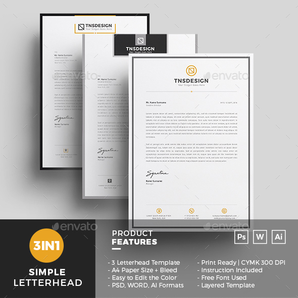 50 best letterhead design templates 2018 psd word pdf indesign 03 professional letterhead template psd doc eps spiritdancerdesigns Image collections