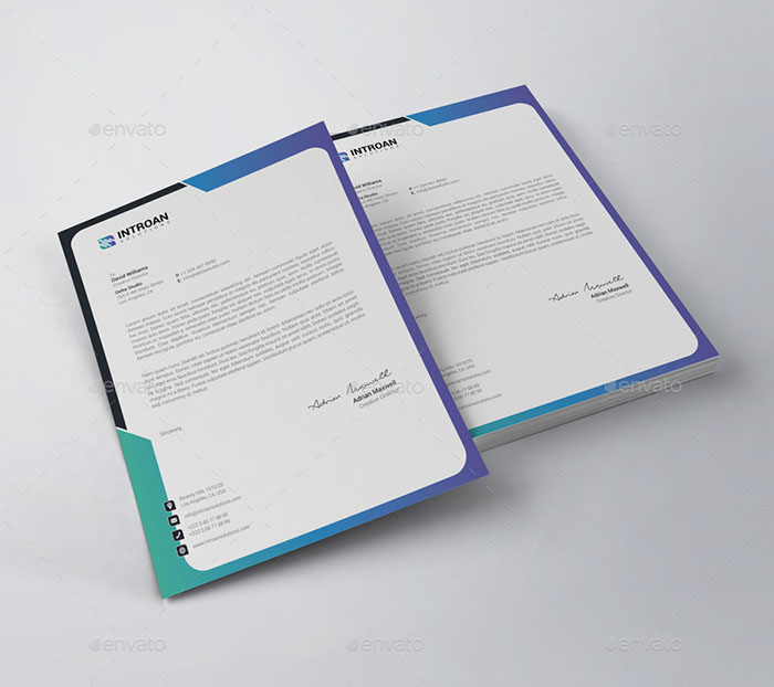 25 Professional Modern Letterhead Templates: 50+ Best Letterhead Design Templates 2018 (PSD, Word, PDF
