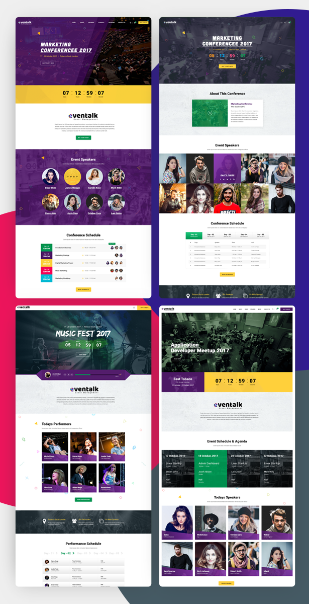 71 Clean Responsive Bootstrap 3 4 Website Templates 2018 5 Conference Template
