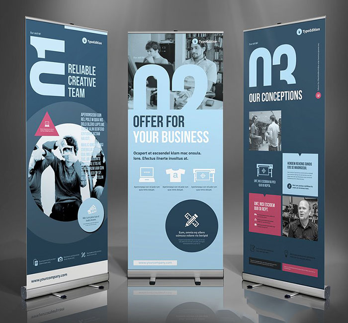 49 Best Roll Up Banner Mockups And Templates 2020
