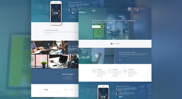 71+ Clean Responsive Bootstrap 3, 4 Website Templates 2018 (HTML5)