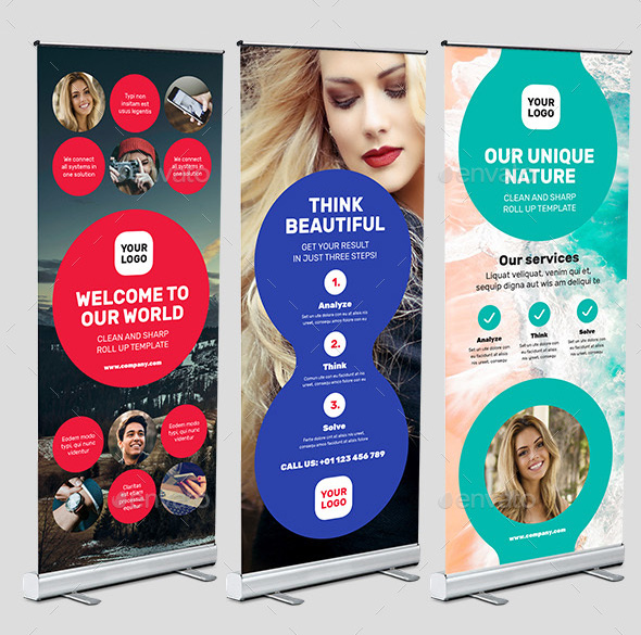 49+ Best Roll Up Banner Mockups and Templates 2018