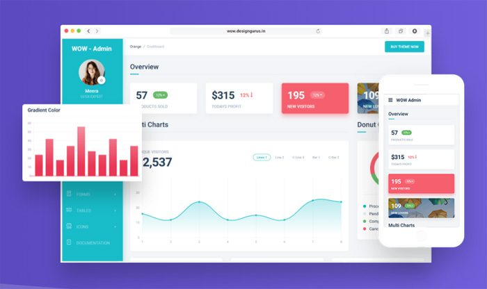 48+ Responsive Bootstrap 4 Admin Dashboard Templates 2018